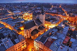 old Lviv Ukraine night  beautiful eastern europe cities.jpg
